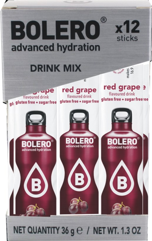 red grape Bolero drink Sticks červené hrozny  12x3g